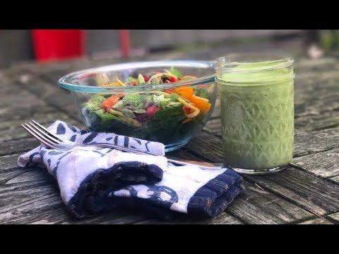 Creamy Cashew Green Goddess Dressing: Vegan (and Paleo!) everyone will love | One Hungry Mama