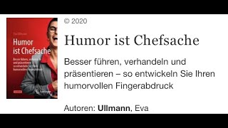 Humor ist Chefsache - Eva Ullmann stellt das gleichnamige Buch vor