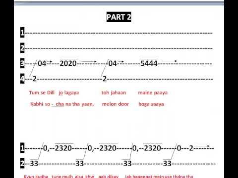 Teri meri meri teri - Body gaurd Full notes for Guitar