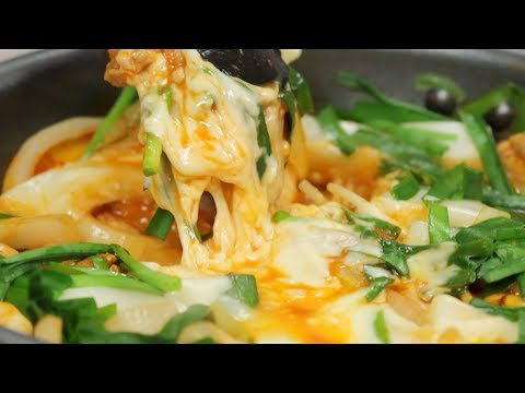 Cheese Dakgalbi Recipe (Korean Spicy Stir-Fried Chicken with Vegetables) | Cooking with Dog