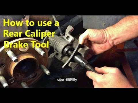 How to use a Rear Brake Caliper Tool - Tutorial / Demonstration