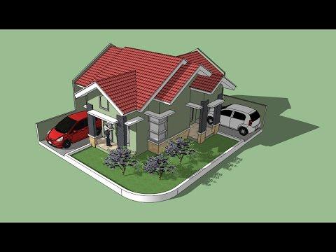 Sketchup tutorial house building