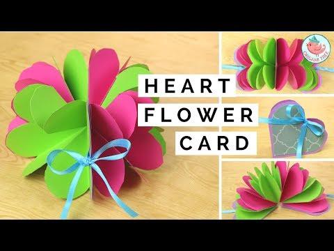 Pop-Up Flower & Pop-Up Heart Card - Paper Crafts Tutorial - Easy DIY Handmade Card Making