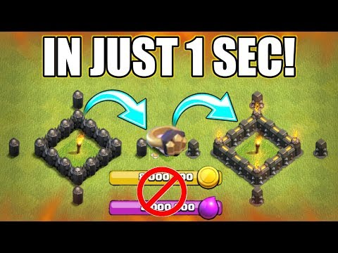UPGRADE YOUR WALL IN 1 SEC WITHOUT RESOURCES | RING OF WALLS USE | HOW IT'S WORK?