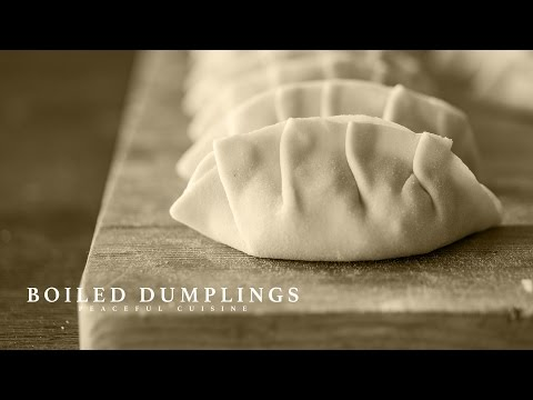 [No Music] How to make Boiled Dumplings