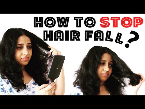 HOW TO STOP HAIR FALL ?? Happy Pink Studio