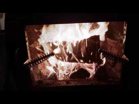 Roaring wood stove fire without kindling hack