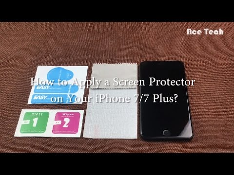 Ace Teah - How to install tempered glass screen protector for Apple iPhone 7 & 7 Plus