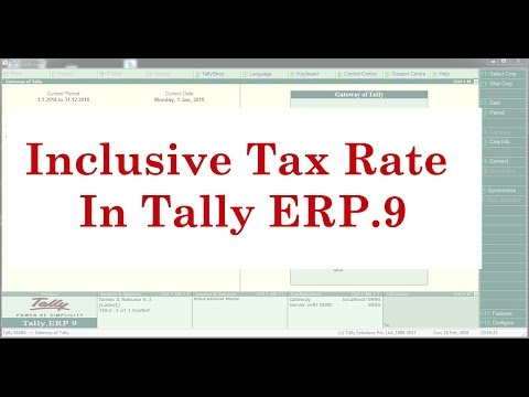 How to set Inclusive Tax rate for selected Items