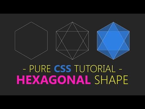 Create Hexagon Using Css - html css tutorial