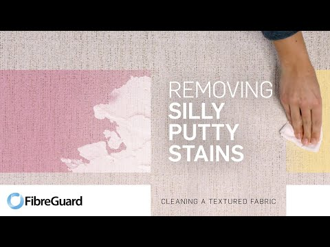 Removing silly putty stains from textured fabric