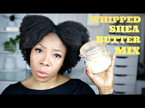 DIY: Whipped Shea Butter Mix for Natural Hair | No Chemical Hair Challenge | 4A 4B 4C | JumieAnne