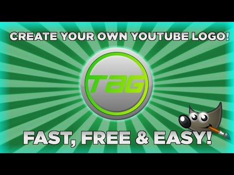 DIY: Create your own Professional YouTube Logo FAST FREE AND EASY! (Gimp 2.8) 2016!!