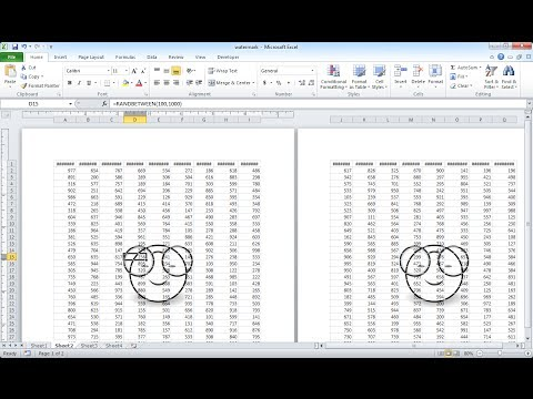 Add a Watermark in Excel