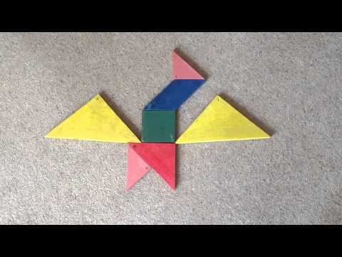 USING TANGRAMS TO TELL A STORY.