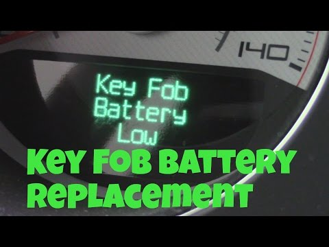How To Change Key Fob Battery For Dodge Challenger