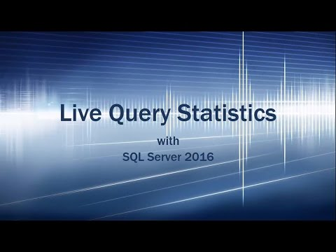 Live Query Statistics with Execution Plans in SQL Server 2016 CTP