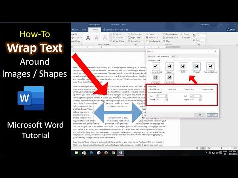 How to Wrap Text Around Objects / Shapes and Pictures | Microsoft Word 2016 Tutorial