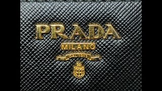 bd38832c1adc Prada Bi-Fold Tab Wallet (wear and tear after 2 years of use)