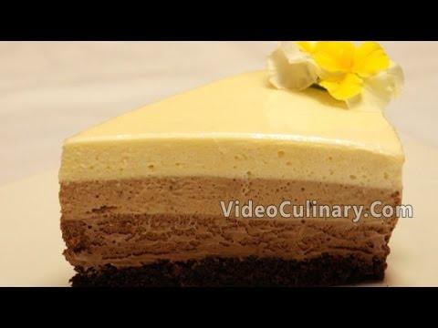 Triple Chocolate Mousse Cake Recipe - Video Culinary