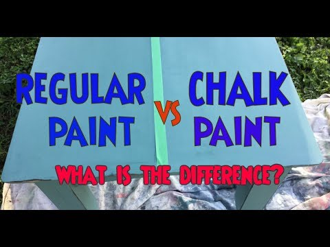 Chalk Paint vs Regular Paint- TEST What is the difference? Which is Better?
