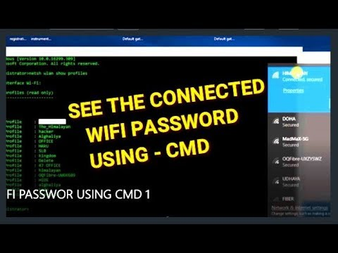 How to Find your WiFi Password Windows 10 using CMD Free & Easy