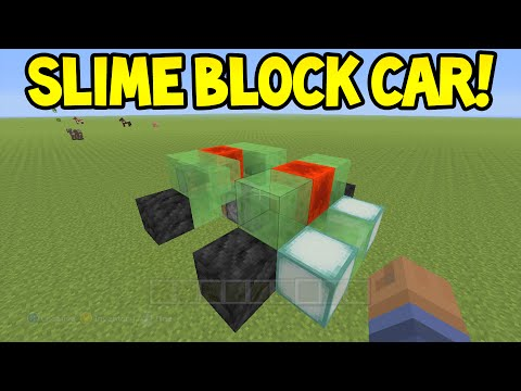 Minecraft (Xbox360/PS3) - TU31 Update! - SLIME BLOCK CAR! - Easy Tutorial