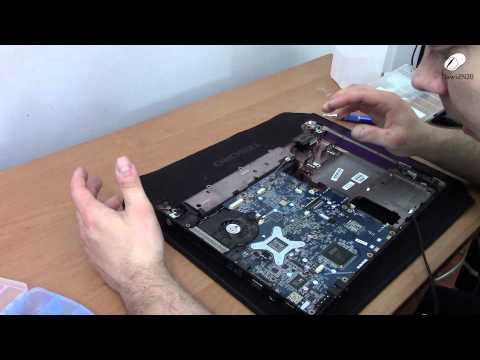 Czyszczenie chłodzenia laptopa z trudnym dostępem