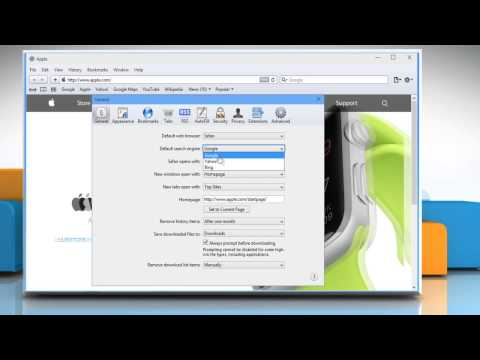 How to change default search engine in Apple® Safari