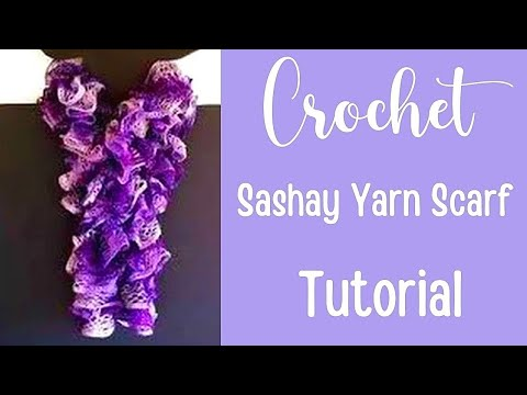 How to Crochet a Red Heart Sashay Yarn Scarf Tutorial - Crochet Jewel