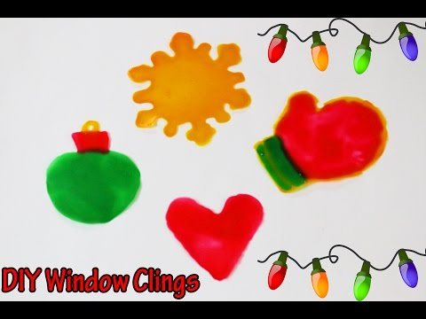 Messy Monday! DIY Window Clings | How to make Christmas window decorations with GLUE