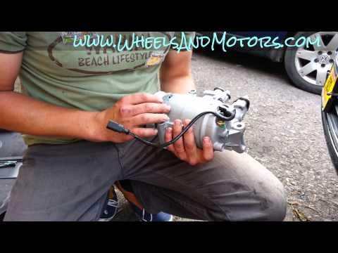 How to replace air conditioning (AC, Air Con) compressor for Audi A6 (C6 4F) 2.0tdi model