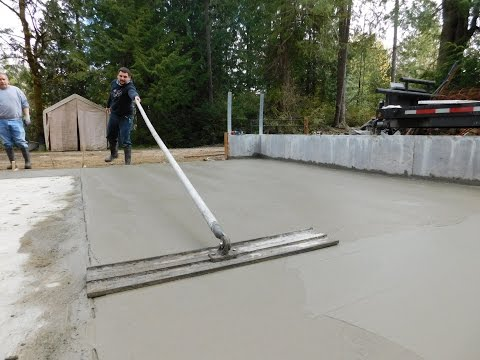 Build my garage  #9 Pouring the concrete slab