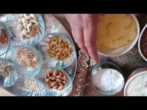 alsi ki panjiri अलसी की पंजीरी, सर्दियों के लिए खास How to make panjiri, अलसी कटोरा,  MK production