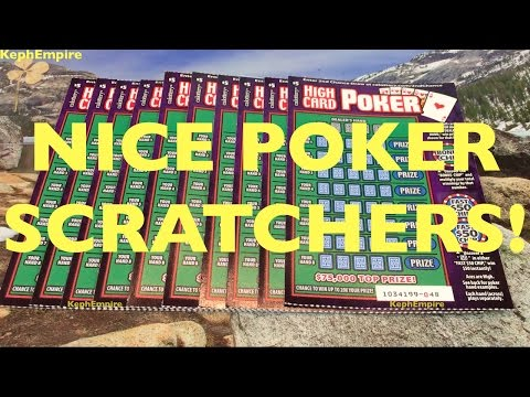NOT BAD WIN RETURN! High Card Poker $5 California Lottery Scratchers