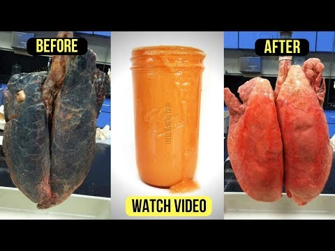 This Homemade detox Drink to Cleanse Smokers Lungs Naturally In Few Days
