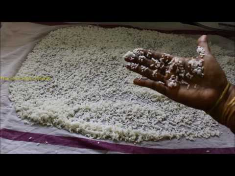 Homemade rice flour in Tamil - அரிசி மாவு அரைக்கும் முறை - How to make rice flour
