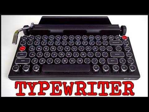 Qwerkywriter Typewriter Mechanical Keyboard! (w/ typing test)