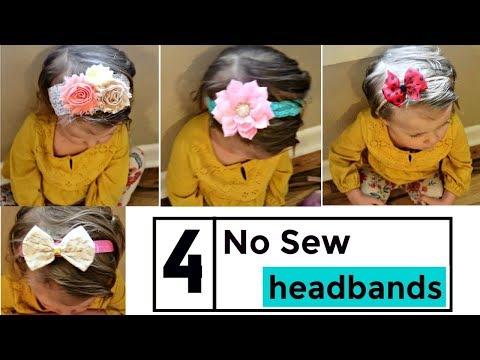 4 No Sew Toddler Headbands!