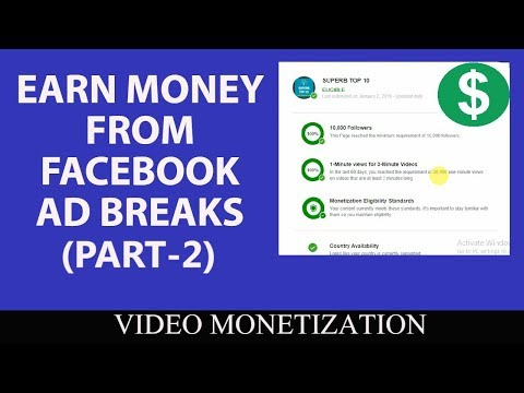 How to monetize Video on Facebook | Set Up Earnings | Facebook Ad Breaks