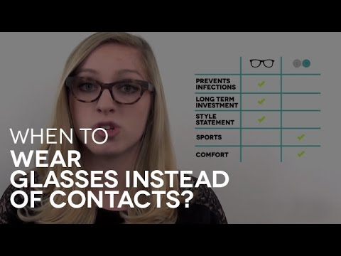 When to wear glasses instead of contact lenses? | Q&A # 7