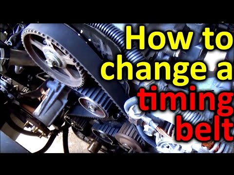 How to Change a Timing Belt in a car or truck