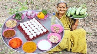 Ridge Gourd with Egg Recipe in Village Style By My Grandma || Myna Street Food
