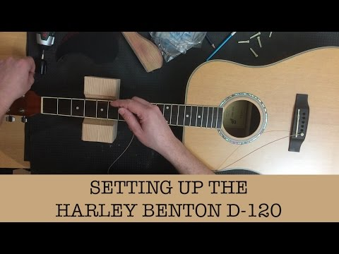 Setting up my cheap acoustic guitar - Harley Benton D-120NT