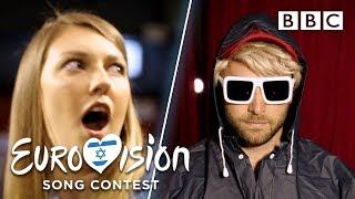 Undercover Måns surprises Eurovision fans - BBC