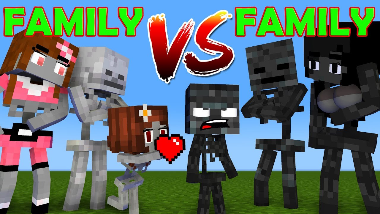 FAMILY VS FAMILY - WHO IS THE STRONGEST MONSTERS - MONSTER SCHOOL