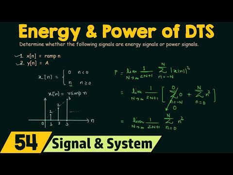 Energy and Power of Discrete Time Signals