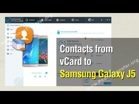 How to Import Contacts from vCard to Samsung Galaxy J5