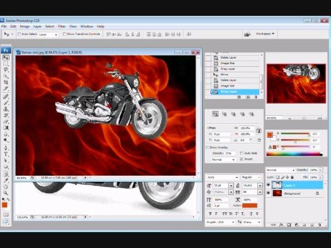 How to merge two Photos using Photoshop CS3 Extended