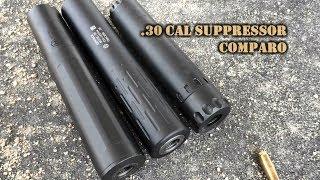 30 Cal Suppressor Comparison: Sandman Ti, Tracker, Nitro 30
